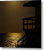 Lovers Moon Metal Print by Rene Triay Photography
