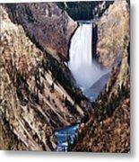 Lower Yellowstone Falls Metal Print by Bill Gallagher