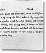 Loyalist Oath, 1779 Metal Print by Granger