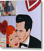 Lucille Ball At Peggy Sues Diner In Yermo California Metal Print by Robert Ford