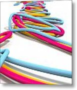 Luminous Cables Closeup Metal Print by Allan Swart