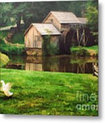 Mabrys Mill And The Welcoming Committee Metal Print by Darren Fisher