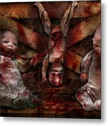 Macabre - Dolls - Having A Friend For Dinner Metal Print by Mike Savad