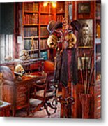 Macabre - In The Headhunters Study Metal Print by Mike Savad