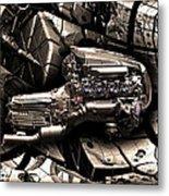 Machinery Abstract Metal Print by Radoslav Nedelchev