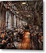 Machinist - A Fully Functioning Machine Shop  Metal Print by Mike Savad