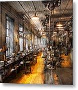 Machinist - Santa's Old Workshop Metal Print by Mike Savad