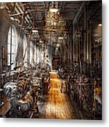 Machinist - Welcome To The Workshop Metal Print by Mike Savad