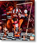Madness In The Hatter's Realm Metal Print by Putterhug  Studio