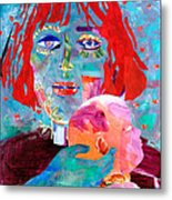 Madonna And Child Metal Print by Diane Fine