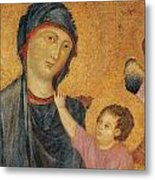 Madonna And Child Enthroned  Metal Print by Cimabue