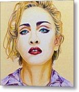 Madonna Metal Print by Rebelwolf