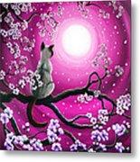 Magenta Morning Sakura Metal Print by Laura Iverson