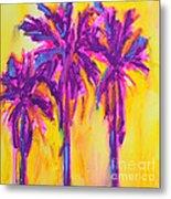 Magenta Palm Trees Metal Print by Patricia Awapara