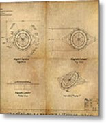 Magneto System Blueprint Metal Print by James Christopher Hill