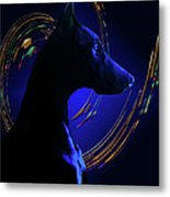 Magnificent Blue Metal Print by Rita Kay Adams