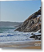 Maine Surfing Scene Metal Print by Meandering Photography