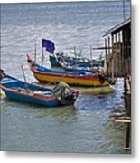 Malaysian Fishing Jetty Metal Print by Louise Heusinkveld