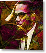 Malcolm X 20140105 Metal Print by Wingsdomain Art and Photography