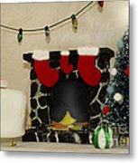 Mallow Christmas Metal Print by Heather Applegate
