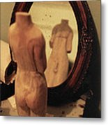 Man In The Mirror Metal Print by David  Cardona