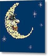 Man In The Moon Dazzled Metal Print by R  Allen Swezey