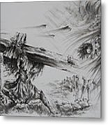 Man Of Sorrows Metal Print by Rachel Christine Nowicki