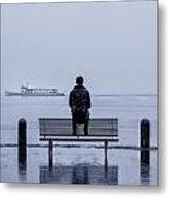 Man On Bench Metal Print by Joana Kruse