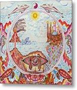 Mandala Atlanits Metal Print by Lida Bruinen