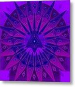 Mandala For Ca Symptoms Metal Print by Sarah  Niebank