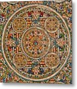 Mandala Of Heruka In Yab Yum And Buddhas Metal Print by Lanjee Chee