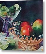 Mango With A Twist Of Lime Metal Print by Leslie Berman