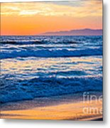 Manhattan Beach Sunset Metal Print by Inge Johnsson