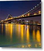 Manhattan Bridge Metal Print by Mircea Costina Photography