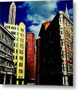 Manhattan Highlights Metal Print by Benjamin Yeager