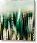 Manhattan Panorama Abstract Metal Print by Hannes Cmarits