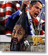 Manifestation Of Frustration - I Am Commander In Chief - Period - On My Watch - Me And My Boys 1-2 Metal Print by Reggie Duffie