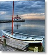Manteo Waterfront 2 Metal Print by Mel Steinhauer