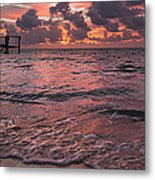 Marathon Key Sunrise Panoramic Metal Print by Adam Romanowicz