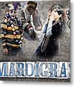 Mardi Gras Artwork Metal Print by Ray Devlin