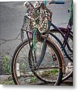 Mardi Gras Bicycle Metal Print by Brenda Bryant