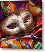 Mardi Gras - Celebrating Mardi Gras  Metal Print by Mike Savad