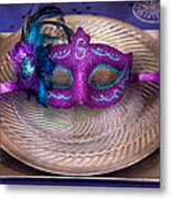 Mardi Gras Theme - Surprise Guest Metal Print by Mike Savad