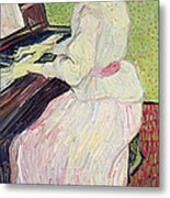 Marguerite Gachet At The Piano Metal Print by Vincent Van Gogh