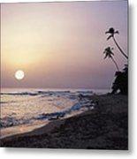 Marias Beach Sunset Rincon Puerto Rico Metal Print by George Oze