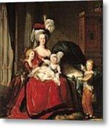 Marie Antoinette And Her Children Metal Print by Elisabeth Louise Vigee-Lebrun