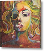 Marilyn Monroe Metal Print by Mike Caron