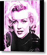 Marilyn Monroe - Pink Metal Print by Absinthe Art By Michelle LeAnn Scott