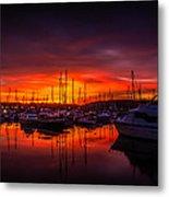 Marina Sunset Metal Print by Dawn OConnor
