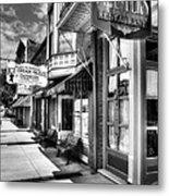 Mark Twain's Town Bw Metal Print by Mel Steinhauer